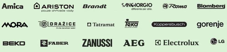 Na tyto značky zajišťujeme záruční i pozáruční servis